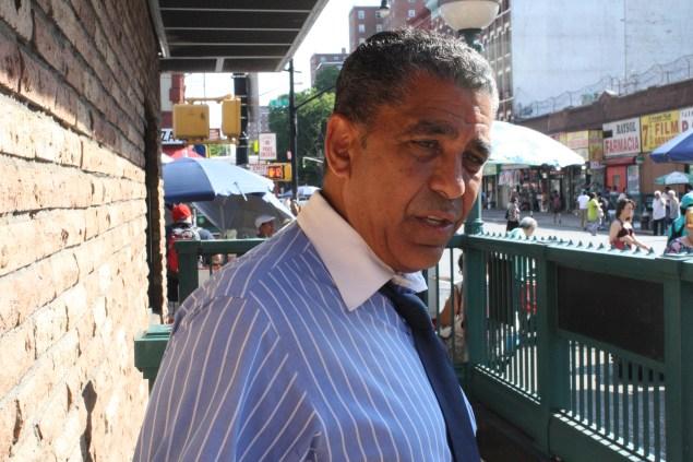 State Senator Adriano Espaillat on the campaign trail Tuesday. (Photo: Ross Barkan)