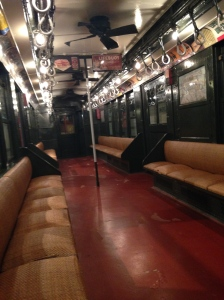 Inside an old subway car at the New York Transit Musuem (Lauren Feiner)