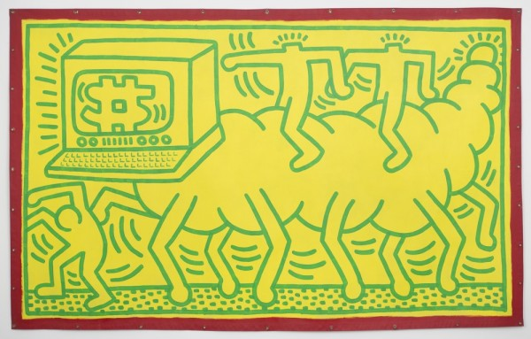 'Untitled,' 1985. (Photo by David Regen/©Keith Haring Foundation)