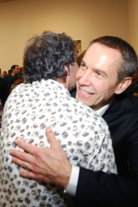 Jeff Koons, spreading love around the world. (Courtesy Patrick McMullan)