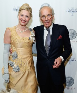 Lewis Lapham with Lori Eustis. (Courtesy Getty Images)