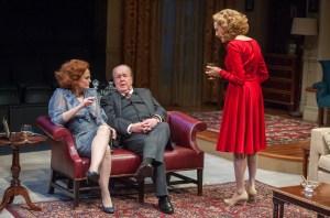 Barbara Garrick, John Aylward and Jan Maxwell in 'The City of Conversation.' (Photo by Stephanie Berger)
