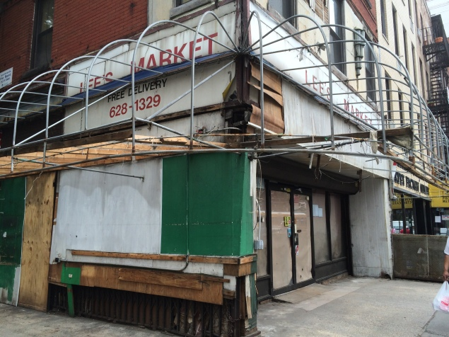 Lee's Market, or what remains of it. (Photo by Matthew Kassel)