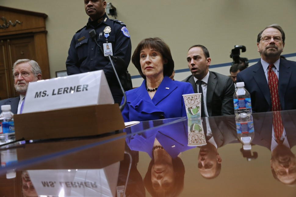 Former Internal Revenue Service official Lois Lerner takes the Fifth before the House Oversight and Government Reform Committee,  March 5, 2014 in Washington, DC.  (Photo by Chip Somodevilla/Getty Images)