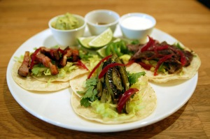 Louro is offering tacos filled with pig's ear, goat, and chicken, among others. (Michael Tulipan)