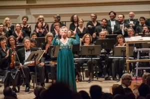 Eve Queler conducts the Opera Orchestra of New York performing 'Roberto Devereux.' (Photo by Stephanie Berger)