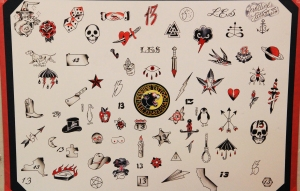 Fineline's tattoo options for $13 dollars. (Meredith Carey)
