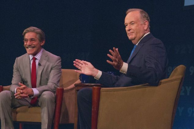 Geraldo Rivera, left, in conversation Bill O'Reilly at the 92nd Street Y on Wednesday. (Photo  Joyce Culver)