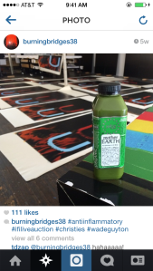 An image from Wade Guyton's Instagram account.