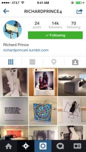 Richard Prince's account.