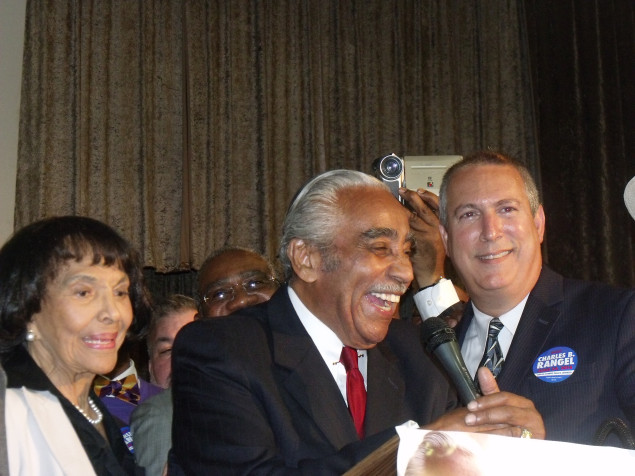 Congressman Charlie Rangel at his victory party.  (Photo: Jillian Jorgensen)