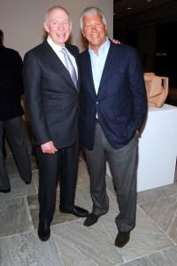 Aaron Fleischman with Larry Gagosian. (Patrick McMullan)