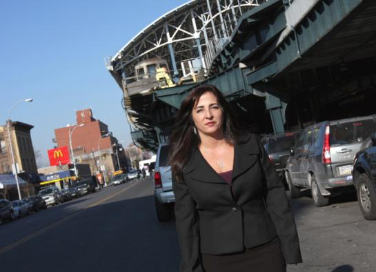 State Senator Diane Savino in Coney Island. (Photo: Savino Campaign)