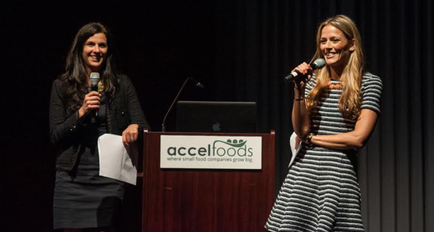 AccelFoods was founded by Jordan Gaspar and Lauren Jupiter, whose sisterly relationship was on display for comic relief throughout the evening. (Photo via James Collier)
