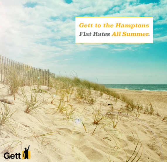 Black car app Gett is offering rides to and from the Hamptons this summer. (Gett)