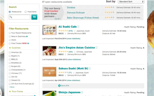 Guess we're not ordering from A1 Sushi Cafe. (Screengrab: Chrome Web Store)