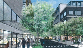 Photo rendering of 26th avenue in Astoria Cove. (Studio V and Ken Smith Workshop)