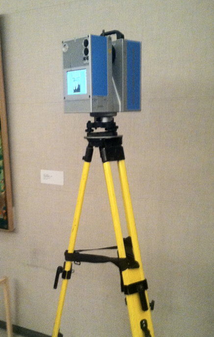 The laser scanner used in the show, on display at the premier on Thursday. (Photo by Jack Smith IV)