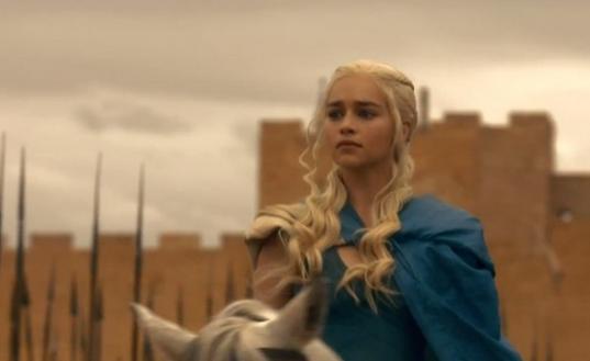 Daenerys looks worried. (Screengrab: HBO)