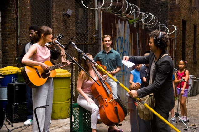 Keira Knightley, left, in Begin Again.