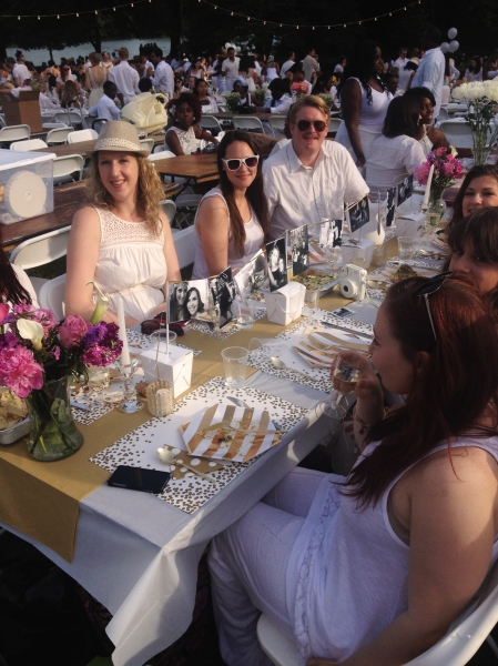 One finely decorated table. (Meredith Carey)