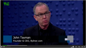 John Tayman resigned as CEO of Byliner, which he co-founded in 2011 (screencap Tech Crunch TV)