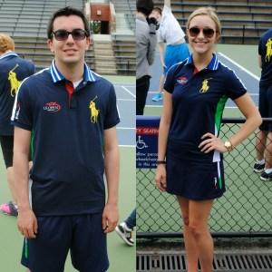 Nick Clopsis (right) in the men's outfit, Ann Hecht (left) in the women's (Photo: Matt Mullen)