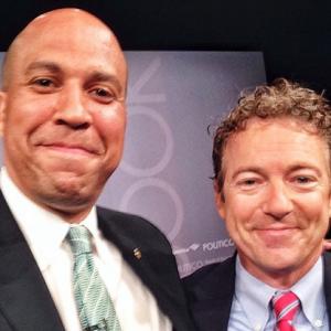 Cory Booker's selfie with Senator Paul Rand. (Photo via Facebook)