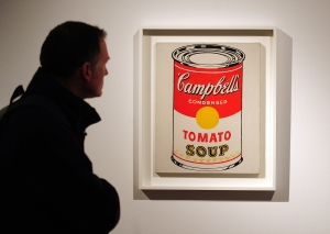 """""""Campbell's Soup Can (Tomato)"""" by Andy Warhol (Photo: Emmanuel Dunand/AFP/Getty Images)"""