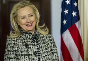 Singing and dancing her way into the Presidential Race? (SAUL LOEB/AFP/Getty Images)