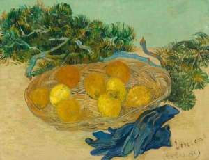 Vincent van Gogh's 'Still Life of Oranges and Lemons With Blue Gloves' (1889), which was donated to the National Gallery from the collection of Paul and Bunny Mellon earlier this year. (Courtesy NGA)