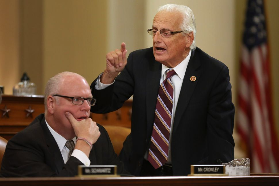 "Rep. Bill Pascrell (D-NJ) stands to accuse committee Republicans of obstructing the Affordable Care Act in October, 2013. The Congressman was the unnamed ""Democratic lawmaker"" in a scintillating Feb. 2017 Wall Street Journal story about a corrupt lobbyist who took his own life."
