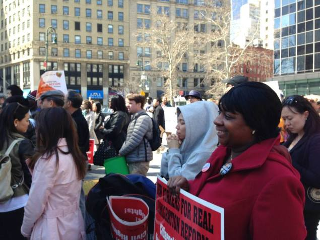 Ms. Mapp at an immigration reform rally earlier this year (Facebook).