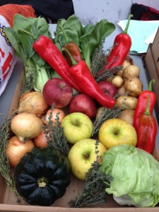 An example of the produce available in a single a Fresh FoodBox for $10. (Courtesy of GrowNYC)