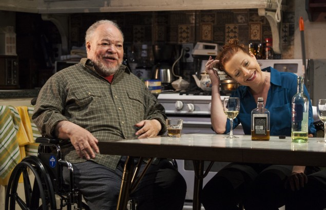 Stephen Mckinley Henderson and Elizabeth Canavan in Between Riverside and Crazy. Photo by Kevin Thomas Garcia)