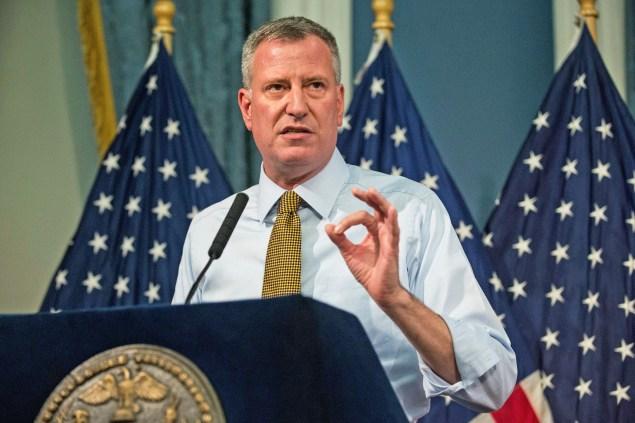 New York City Mayor Bill De Blasio (Photo via Getty Images)