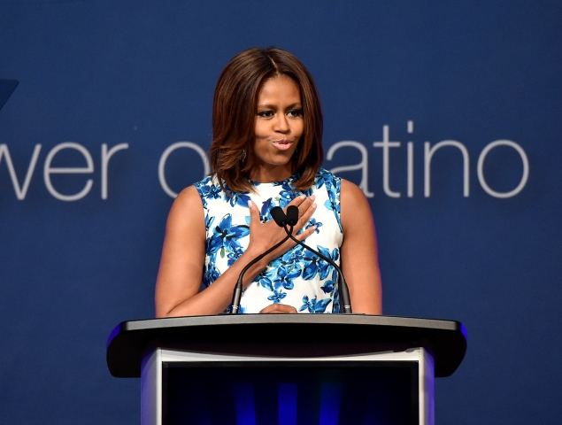 First Lady of the United States Michelle Obama at the LULAC/NUVOtv Unity Luncheon. (Larry Busacca/Getty Images)
