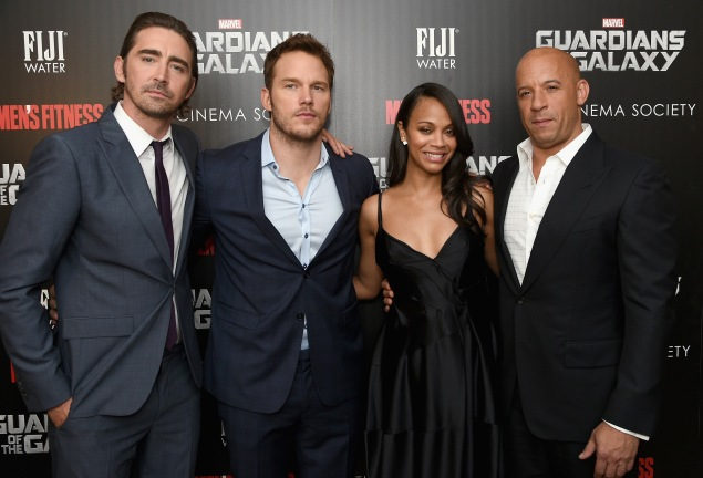 """The Cinema Society With Men's Fitness And FIJI Water Host A Special Screening Of Marvel's """"Guardians Of The Galaxy"""" - Arrivals"""