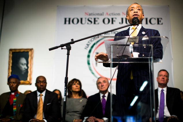 Police Commissioner Bill Bratton attending a Rev. Al Sharpton speech last year. (Photo: Christopher Gregory/Getty Images)