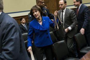 Lois Lerner, feeling the heat (BRENDAN SMIALOWSKI/AFP/Getty Images)