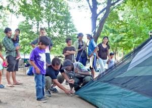 Camping Program at Alley Pond Park (Daniel Avila / NYC Parks)