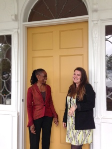 A photo of First Lady Chirlane McCray with a West Elm designer, featured on West Elm's blog. (blog.westelm.com)