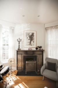 A bedroom fireplace. (Photo by Emily Assiran)