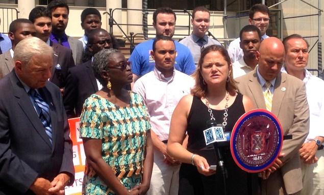 Speaker Melissa Mark-Viverito at City Council. (Photo: Paula Duran)