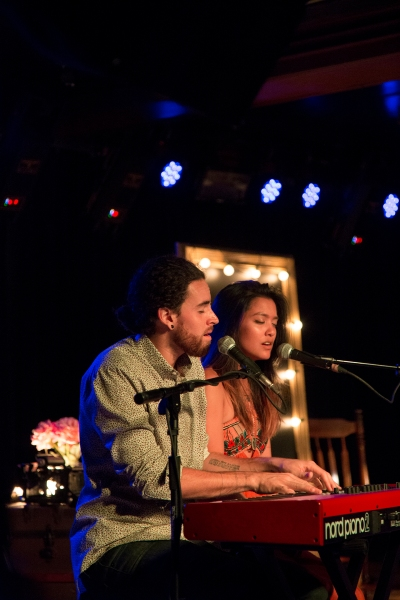 "Michael and Carissa Alvarado of Us the Duo sing ""Take Me Home."" (Kaitlyn Flannagan)"