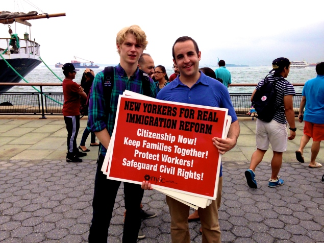 Hallam Tuck (left) and Austin Cohen (right) are New York Immigration Coalition interns.