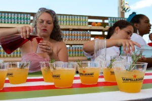 Mixologist Lynnette Marrero creates mocktails from new flavors of San Pellegrino (photo by Daniel Cole)