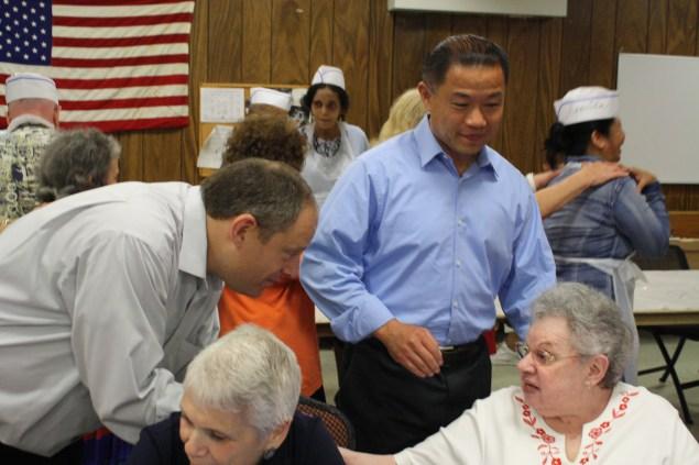John Liu with Councilman Rory Lancman. (Photo: Ross Barkan)