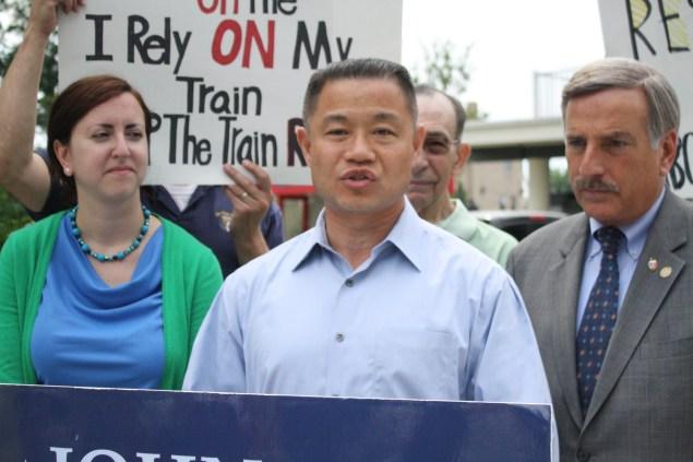 John Liu during the State Senate campaign. (Photo: Ross Barkan)