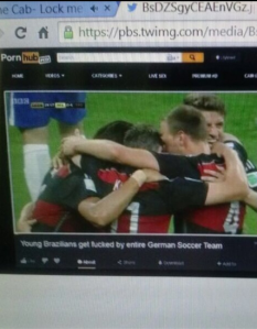 Not the media coverage Brazil was hoping for. (Photo via Imgur)